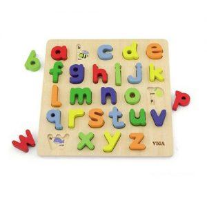 Wooden Alphabet Block Puzzle Lower Case
