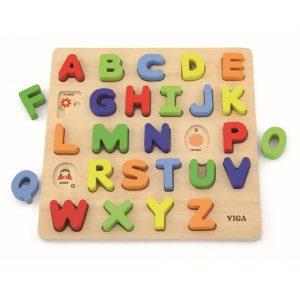 Wooden Alphabet Block Puzzle Upper Case