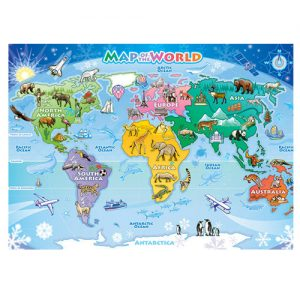 map of the world puzzle 48pc