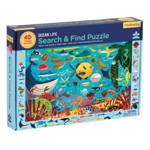 Ocean Life Search and Find Puzzle