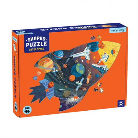 Outer Space Shaped Scene Puzzle