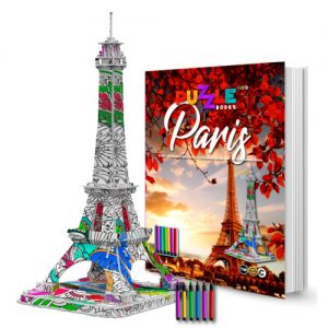 paris 3d puzzle book