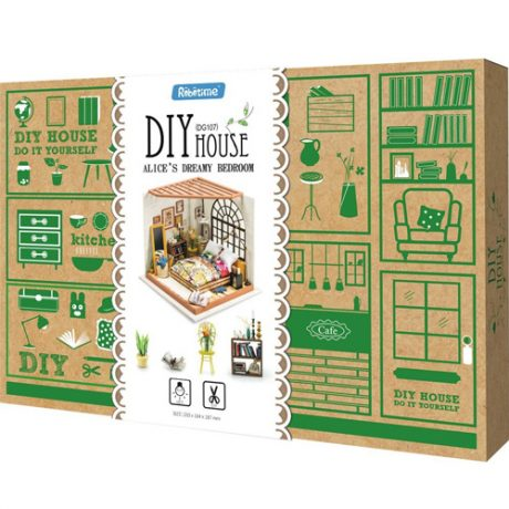 Alices Bedroom Wooden DIY House – boxed