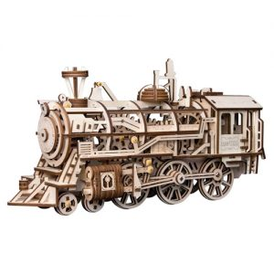 Wooden 3D Mechanical Locomotive