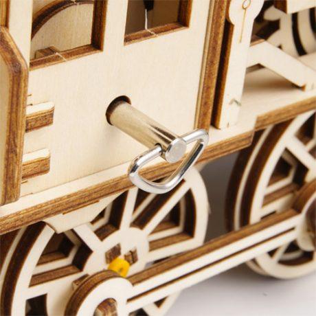 Wooden 3D Mechanical Locomotive b