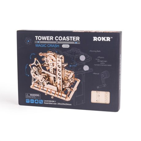 Wooden 3D Tower Coaster Marble Run boxed