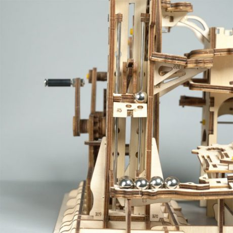 Wooden 3D Tower Coaster Marble Run c