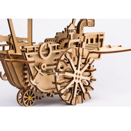 wooden 3d mechanical airship a