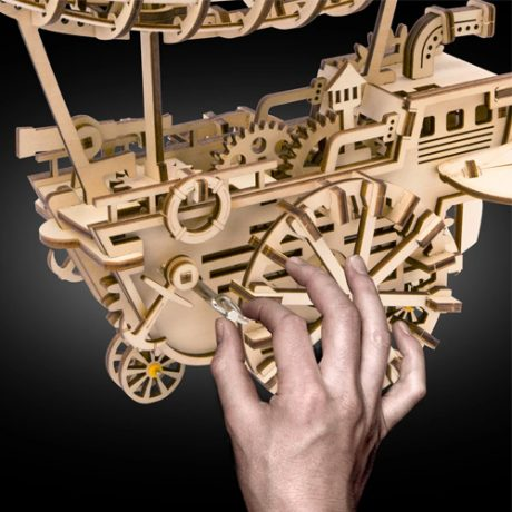 wooden 3d mechanical airship c