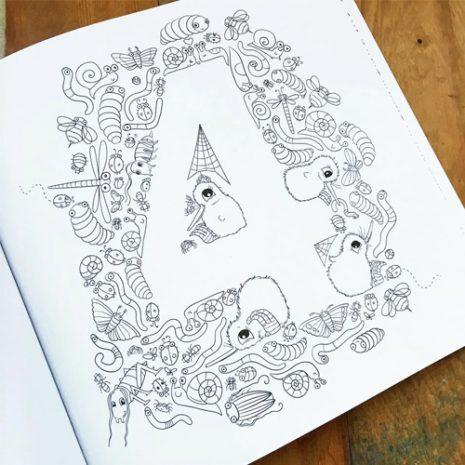 Kuwis Creative Colouring Book