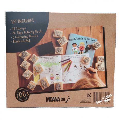 Tane and Ruby's NZ Tiki Tour Stamp Kit