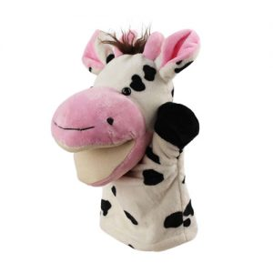 cow hand puppet - large