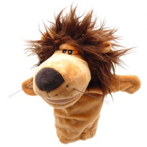 lion hand puppet -large