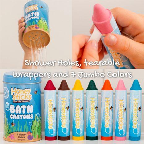 Honeysticks Bath Crayons 7pk
