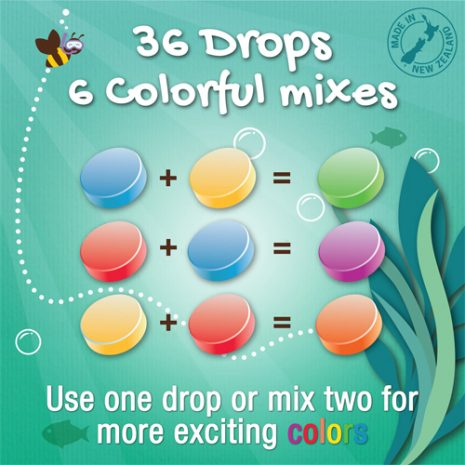 Honeysticks Coloured Bath Drops 36pk