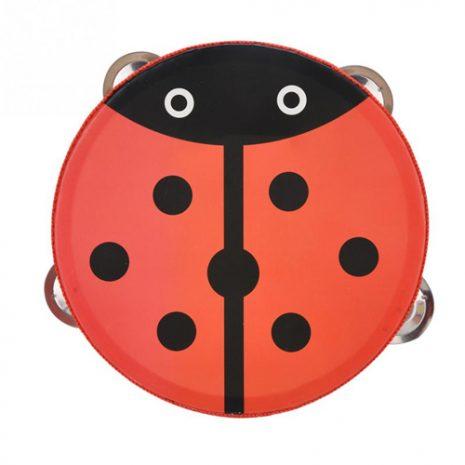 Ladybug Wooden Tambourine 15cm
