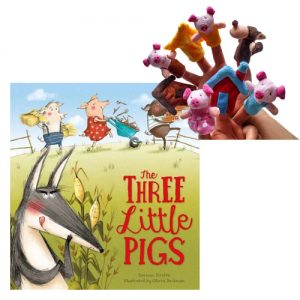 Three Little Pigs Book & Puppet Combo