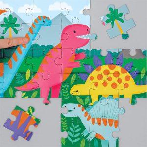 dinosaurs fuzzy puzzle 42pc