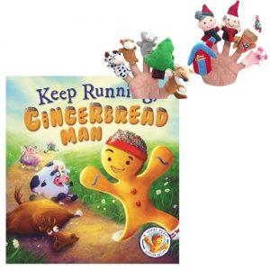 Gingerbread Man Book & Puppet Combo