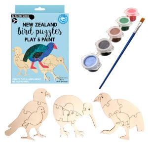 Play and Paint NZ Bird Puzzles