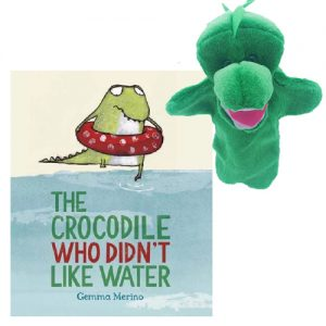 The Crocodile Who Didn't Like Water Book & Puppet Combo