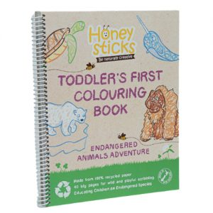 Toddlers First Colouring Book - Endangered Animals Adventure