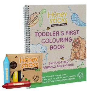 honeysticks longs Endangered animals colouring bundle