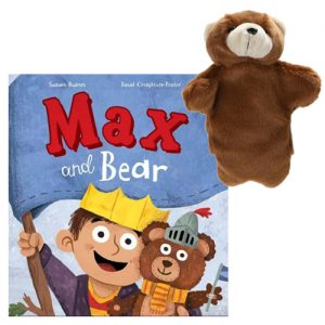 max and bear book and puppet combo