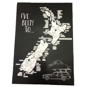 Moana Rd New Zealand Road Trip Scratch Map