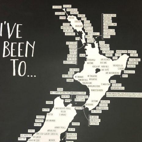 Moana Rd New Zealand Road Trip Scratch Map up close