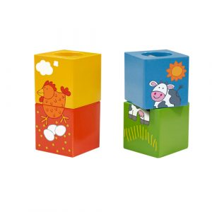 Wooden Animal Discovery Cubes