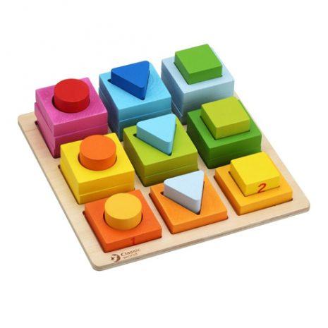 Wooden Geometric Stacking Blocks