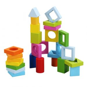 Wooden Geometric Stacking Blocks