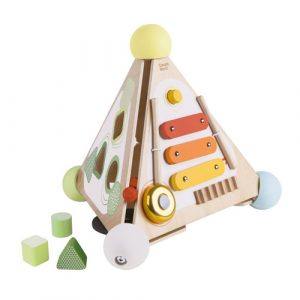 Wooden Pyramid Activity Box