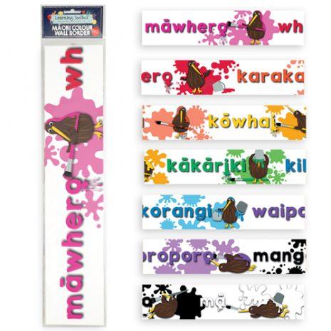 Te Reo Maori Colours Wall Border