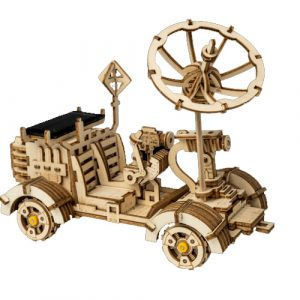 Solar Powered Moon Buggy Wooden DIY 3D Kit