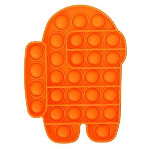 Orange Among Us Pop It Fidget Toy