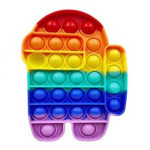 Rainbow Among Us Pop It Fidget Toy