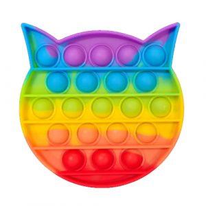 Rainbow Cat Pop It Fidget Toy