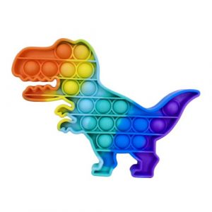 Rainbow Dinosaur Pop It Fidget Toy