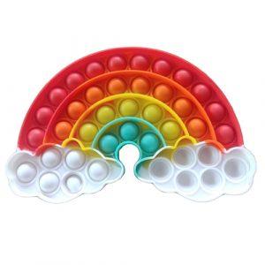 Rainbow Cloud Pop It Fidget Toy