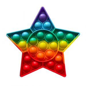 Rainbow Star Pop It Fidget Toy