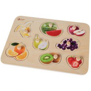 Wooden Fruit Knob Jigsaw Puzzle