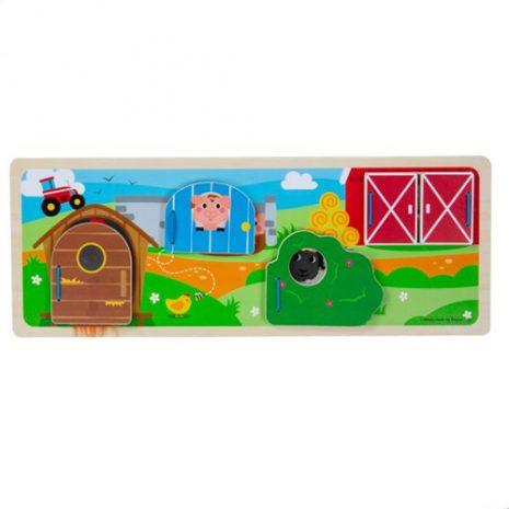 Wooden On The Farm Sensory Board