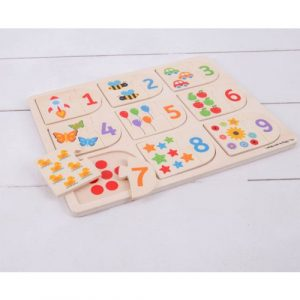 Wooden Picture and Number Matching Puzzle