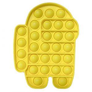 Yellow Among Us Pop It Fidget Toy