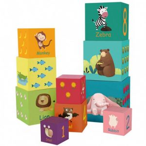 Forest Animals stacking cubes