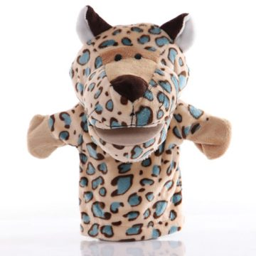 Leopard hand puppet - large