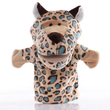 Leopard hand puppet - large