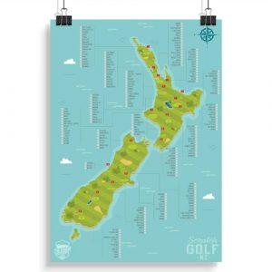 New Zealand Golf Course Scratch Map